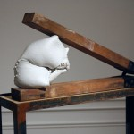 With Grace - Porcelain, Steel, Wood, Found Object